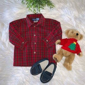 Great Guy Classic Holiday Plaid Button Down 12M